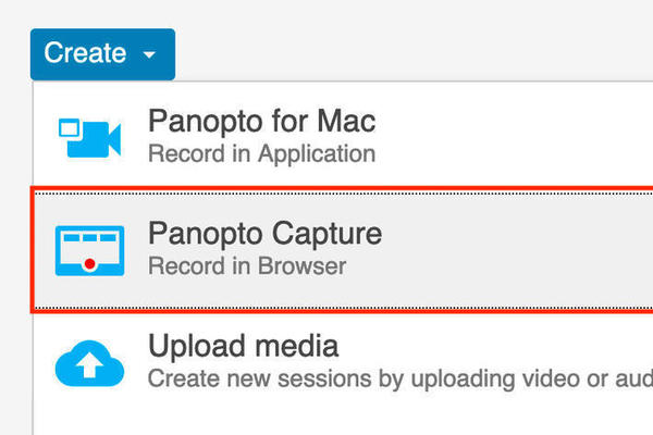 Panopto Capture screen picture