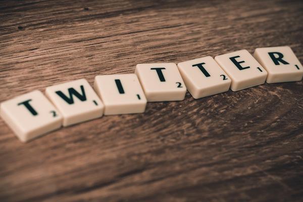 Twitter spelled out using scrabble tiles or similar