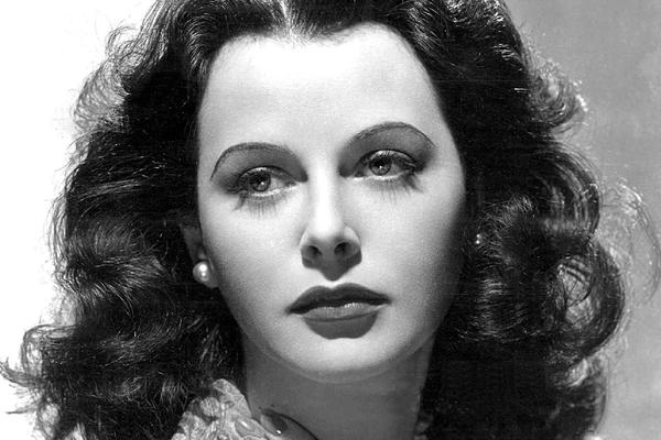 black and white photo of Hedy Lamarr