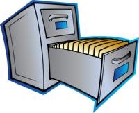 Cartoon image of a filing cabinet