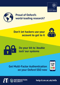 For illustration only: Poster promoting use of multi-factor authentication (MFA)
